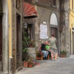 oud, straatje, italie