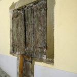oude, houten, deur, italie