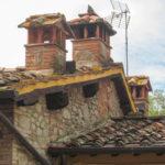 dak, schoorsteen, italie