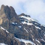 bergtop, sneeuw